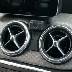 Suport auto in forma T pentru telefon CLEC cu prindere exclusiv pentru Mercedes Benz GLA class , negru