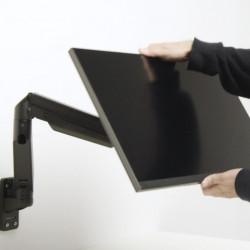 Suport monitor de perete Gas Lift Multibrackets 7174 + adaptor de prindere perete 1381, Negru, min. 2 - max. 10 kg