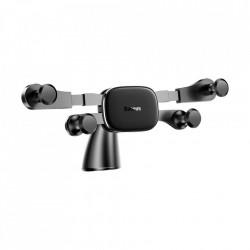 Suport orizontal pentru telefon cu montare pe bordul masinii, Baseus Gravity , negru (SUYL-HP01)