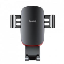 Suport telefon auto, Baseus Metal Age Gravity, pentru grilaj ventilatie, gray