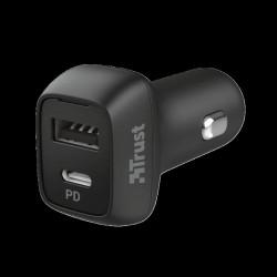 Trust Qmax 30W Fast USB-C+A Car Charger