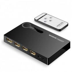 Ugreen HDMI - 3x comutator splitter HDMI 3D 4K 7,5 Gbps 36 biti pe canal negru (40234)