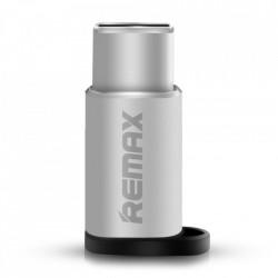 Adaptor micro USB la USB tip C argintiu, Remax (RA-USB1)