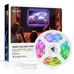 Banda LED smart compatibila cu sistemele Amazon Alexa si Google Assistant, Gosund Nitebird SL1 (2,8m)