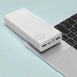 Baterie externa/Power bank 20000 mAh , Baseus Mulight cu display putere si voltmetru , compatibil cu Apple Macbook , PD3.0 QC3.0 , alb