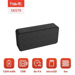 Boxa portabila bluetooth wireless Havit SK579BT (negru)