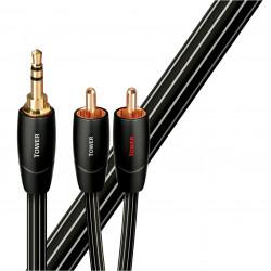 Cablu audio Jack 3.5mm - 2RCA AudioQuest Tower 1,5m