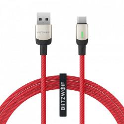 Cablu BlitzWolf BW-TC21 USB-C 3A 2m (red)