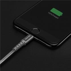 Cablu date Dux Ducis K-one , Lightning pentru iPhone certificat MFI , 5V , 2.4A , 1m , gri