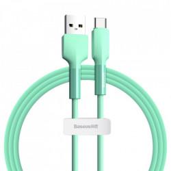 Cablu de date din silicagel, Baseus USB - Type C, 3A 1 m 480 Mbps green (CATGJ-06)