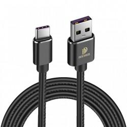 Cablu de date Dux Ducis K-Max , Usb la USB-C , 5V , 5A , SuperCharge QC 3.0 , 1M , negru