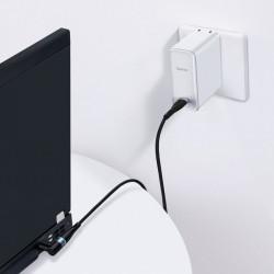 Cablu incarcare, magnetic Baseus Zinc pentru laptop Lenovo USB de tip C la port rotund DC (7,9 x 5,5mm) 100W 2m negru (CATXC-Y01)