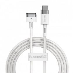Cablu Incarcare USB Type-C - T MagSafe 2 Baseus Zinc Angular Pentru Apple MacBook Air 13 / Macbook Air 11 / Macbook Pro 14 / Macbook Air 17, Magnetic, 60W, 2m, Alb CATXC-V02
