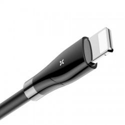 Cablu Lightning pentru iPhone cu afisaj digital, 2A , 1.2M, Baseus Big Eye CALEYE-01, negru