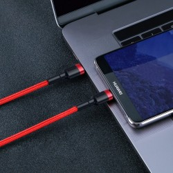 Cablu Type C BASEUS PD PD2.0 , 60W , 20V 3A QC3.0 , 2M , rosu