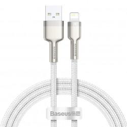 Cablu USB la Lightning Baseus Cafule, 2.4A, 2m (white)