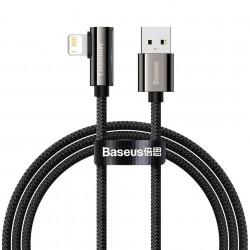 Cablu USB la Lightning Baseus Legend Series, 2.4A, 1m (black)