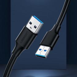Cablu USB Ugreen 2.0 (male) - USB 2.0 (male) 0,50 m black (US128 10308)
