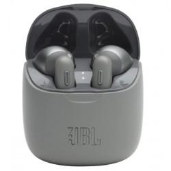Casti audio in-ear JBL TUNE 225TWS, Bluetooth, Asistent vocal, Microfon, Pure Bass, True Wireless, Gri