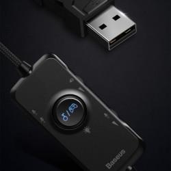 Căști Baseus GAMO USB cu microfon și telecomandă pentru gameri , negru (NGD05-01)