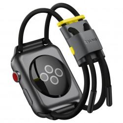 Curea Baseus Let's Go pentru Apple Watch 3/4/5 38 mm / 40 mm (gri și galben)