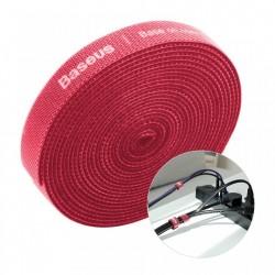 Curea Velcro Baseus pentru organizarea cablurilor , 3M , rosu