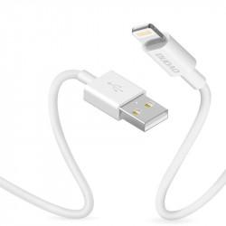 Dudao Cablu de încărcare a datelor Lightning 3A 1m alb (L1L alb)