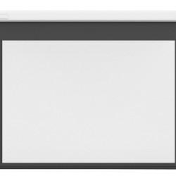 Ecran proiectie electric, perete/tavan, 193.9 x 121.2 cm, Multibrackets 5583, carcasa alba, Format 16:10