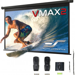 Ecran proiectie electric, perete/tavan, 298,9 x 168 cm, EliteScreens VMAX135UWH2, Format 16:9, Trigger 12V
