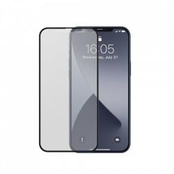 Folie de protectie Baseus 2x sticla mata 0,25 mm cu cadru pentru intregul ecran iPhone 12 mini Negru (SGAPIPH54N-KM01)