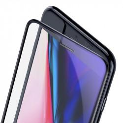 Folie Sticla Curbata iPhone SE 2020 / 8 / 7 / 6S / 6 Baseus Anti Bluelight - Black