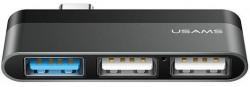 Hub USAMS US-SJ461 usb-c 3XUSB gri
