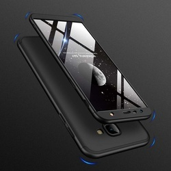 Husa 360° Matte Full Protection Gema Mixt pentru Samsung Galaxy J4 Plus 2018 J415 (fata + spate ) , negru