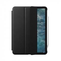 "Husa iPad Pro 12.9"" 18/20 Nomad Rugged Folio Din Piele Naturala Premium Horween - negru"