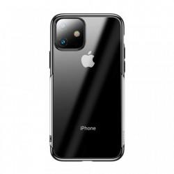 Husa telefon gel , transparenta cu margini negre, Baseus pentru iPhone 11 black (ARAPIPH61S-MD01)