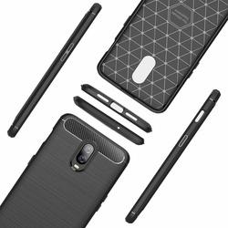 Husa telefon TPU model carbon , Gema Mixt pentru OnePlus 6T , negru