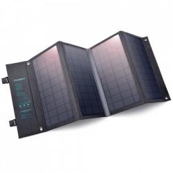 Incarcaor solar pliabil Choetech Solar fotovoltaic 36W USB / USB tip C (94 x 36 cm) Gri (SC006)