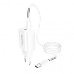 Incarcator DUDAO 2x USB 5V/2.4A + cablu Type-C
