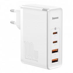 Incarcator priza , rapid Baseus GaN2 Pro 100W USB / USB Typ C Quick Charge 4+ Power Delivery white (CCGAN2P-L02)