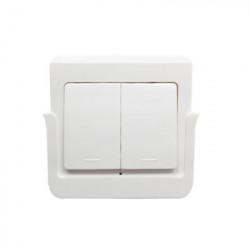 Intrerupator de perete RF fara fir SmartWise RFM2 cu 2 benzi, detasabil de pe suport