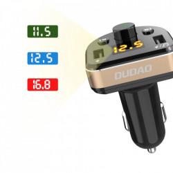 Modulator FM Dudao Bluetooth MP3 si incarcator telefon 2x USB 3.4A black (R2Pro black)
