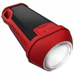 MONSTER Boxa Portabila Wireless Bluetooth Firecraker High Definition, Cablu Auxiliar 3.5 mm, LED 5000K, Speaker, Rosu