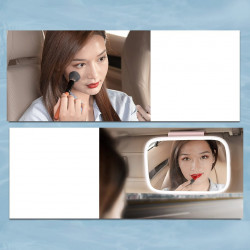 Oglinda touch cu lumina LED pentru parasolar masina, alba (CRBZJ01-02)