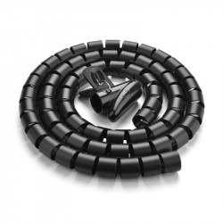 Organizator de cablu Ugreen tubular spiralat 1,5m - negru