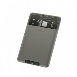 Portcard din silicon aplicabil pe telefon,Baseus , gri inchis (ACKD-A0G)