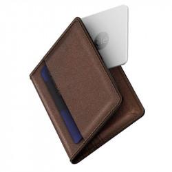 Portofel din piele Nomad cu dispozitiv bluetooth de urmarire - brown