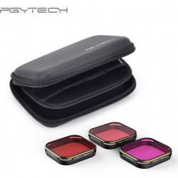 Set filtre de scufundare PGYTECH pentru GoPro 5/6/7, Magenta / Snorkel / Red, ediție cu carcasă (P-G5-119)