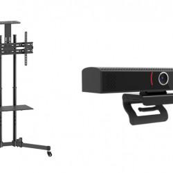 Sistem videoconferinta cu Stand TV de podea BlackMount T28, camera SEEUP