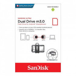 Stick de memorie SanDisk Ultra Dual Drive OTG micro-USB/USB 3.0 150 MB/s - 32 GB