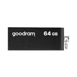 Stick USB Goodram pendrive 64 GB USB 2.0 20 MB/s (rd) - 5 MB/s (wr) flash drive black (UCU2-0640K0R11)
